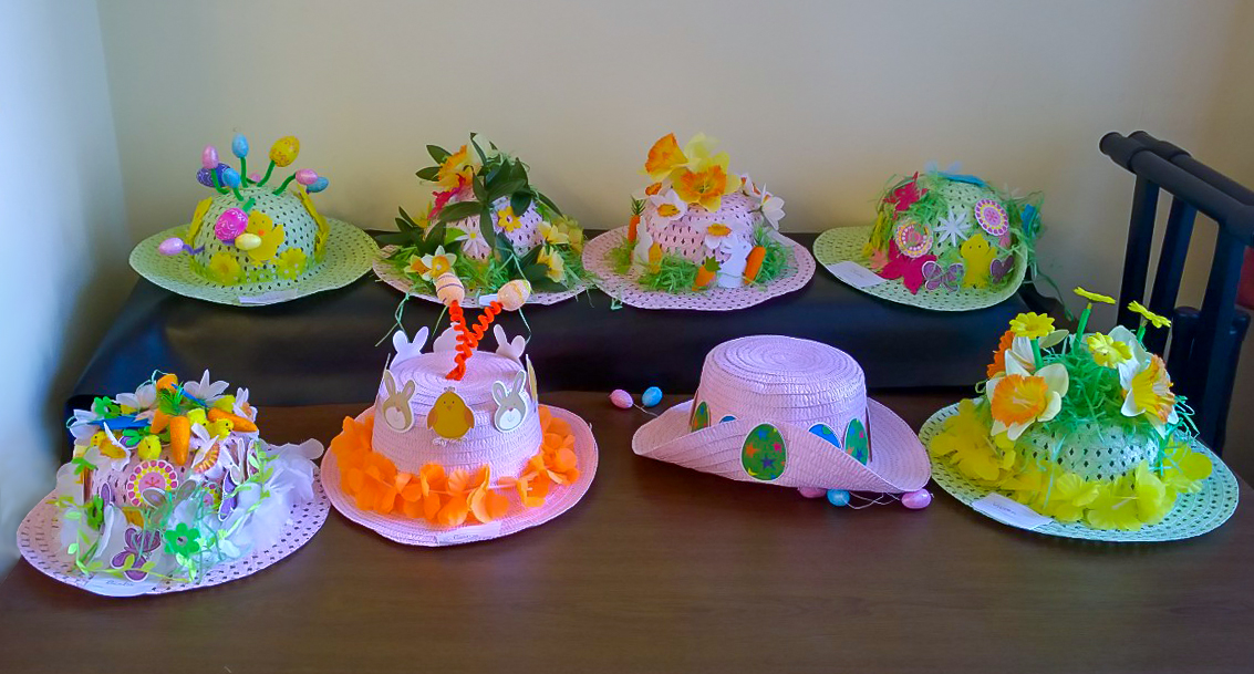 Display of Easter Bonnets